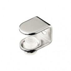 Полкодержатель  стекло+винт, никель