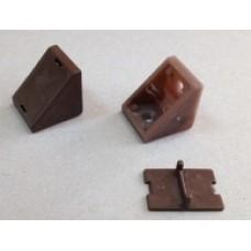 Уголок стяжка + крышечка, коричневый
