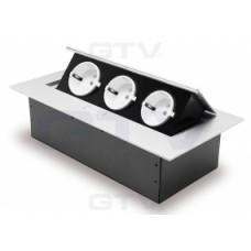 Удлинитель GTV для офиса прямоугольный   алюминий/черный