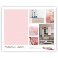 НОВИНКА ЛДСП Lamarty   Розовый кварц  тиснение: легкий шелк