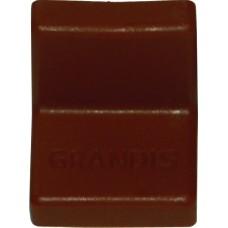 Уголок металлический  Grandis, с пластиковой крышкой 20*20, вишня