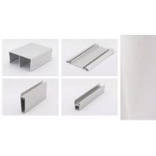 Комплект профилей на дверь Серебро браш